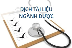dich tài liệu ngành dược